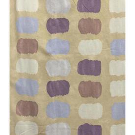 Pair Drapes 10' x 4' Sand / Lilac Geo Print Sateen