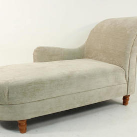 Stone Colour Fabric Roll Arm/D End Chaise  Lounge