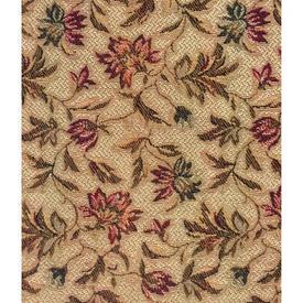 Pair Drapes 3' x 4' Tan Floral Leaf Tapestry