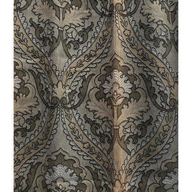 """Pair Drapes 3'4"""" x 3' Charcoal Faded Scroll Tapestry"""