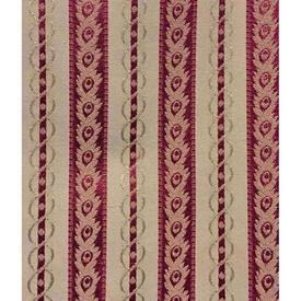 Pair Drapes 3' x 4' Off-White / Maroon Geo Silky Stripe