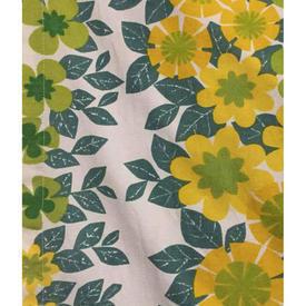 "Pair Drapes 3'3"" x 4' Teal Heal's Banbury Floral Print"