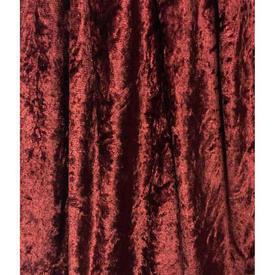 Pair Drapes 3' x 6' Maroon Silky Crushed Velvet