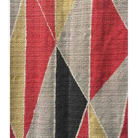"Pair Drapes 3'6"" x 6' Red David Whitehead David Whitehead Diamond Print Barkcloth"