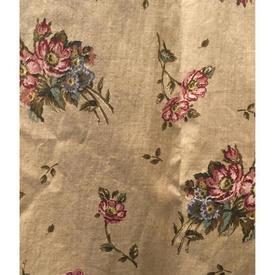 """Pair Drapes 3'6"""" x 4' Sand Floral Bouquet Chintz"""