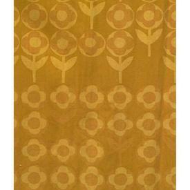"Pair Drapes 3'9"" x 4' Mustard Heal's Verdure Circ Floral Stripe"