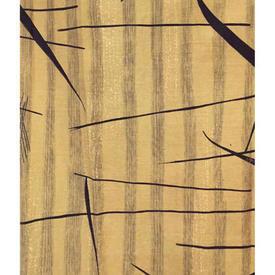 "Pair Drapes 3'9"" x 1'6"" Yellow Heal's Tarn Leaf Slub Linen Lucienne Day 1957"