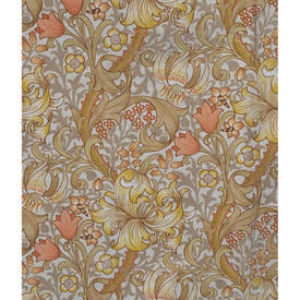 Pair Drapes 4' x 4' Mustard Sanderson Lily Minor Floral