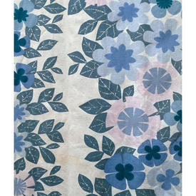 Pair Drapes 4' x 8' Blue Heal's Banbury Floral Print