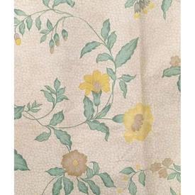 "Pair Drapes 4' x 6'6"" Mint / Lemon Osborne & Little Mottled Floral Chintz"