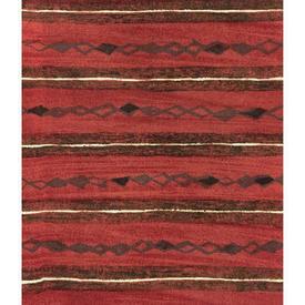 Pair Drapes 4' x 6' Red Heal's Lamina Horiz. Stripe Print