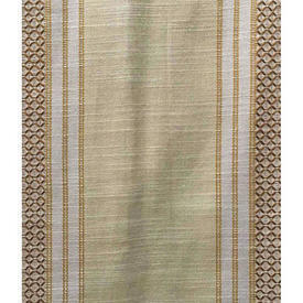 "Pair Drapes 4'3"" x 9'2"" Cream Stripe Swedish Weave"