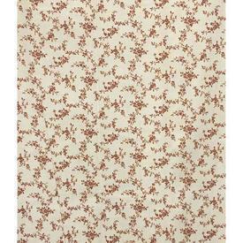 "Pair Drapes 4'6"" x 4' Cream / Rust Laura Ashley Tiny Floral Sprays"