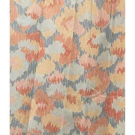 """Pair Drapes 4'6"""" x 4' Salmon Hill & Knowles Abstract Print"""