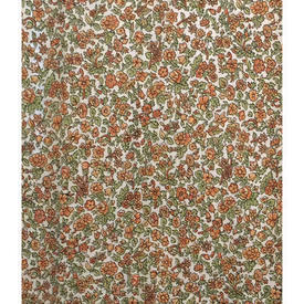 "Pair Drapes 4'6"" x 4' Ginger Tiny Floral Sateen"