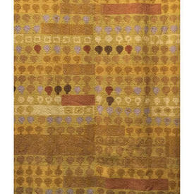"""Pair Drapes 4'6"""" x 5'6"""" Mustard Heal's Cherry Orchard Abstract Stripe"""