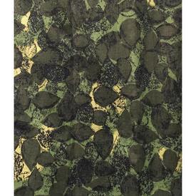 """Pair Drapes 4'6"""" x 4' Khaki Robert Tierney Reen Leaf Print Linen"""