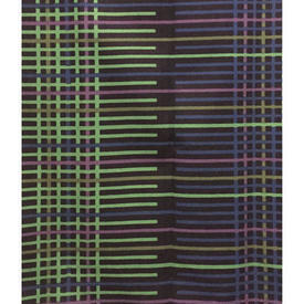 "Pair Drapes 4'9"" x 6' Navy / Purple Geo Print Cotton"