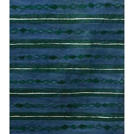 "Pair Drapes 4'9"" x 4' Cerulean Heal's Lamina Horiz. Stripe Print"
