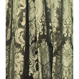 "Pair Drapes 4'9"" x 8' Sea Classical Damask"