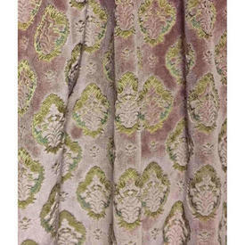 "Pair Drapes 4'9"" x 4' Rose Floral Cut Velvet"
