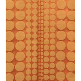 "Pair Drapes 4'9"" x 8' Orange Circles Patt Miska"