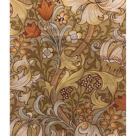 Pair Drapes 5' x 6' Gold Sanderson Golden Lily Floral