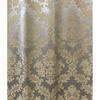 Pair Drapes 5' x 10' Ivory / Silver Geo Silky Damask