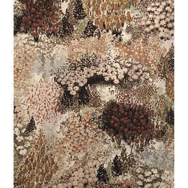 "Pair Drapes 5'3"" x 4' Brown Small All-Over Mottled Floral Cotton"