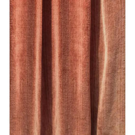 "Pair Drapes 5'3"" x 3'9"" Salmon Fine Stripe Velvet / Braid"