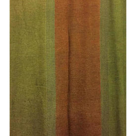 "Pair Drapes 5'3"" x 4' Olive Stripe Light Weave"
