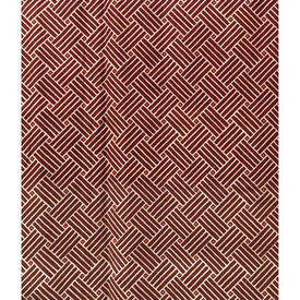 "Pair Drapes 5'3"" x 8' Burgundy Lattice Print Glazed Cotton"