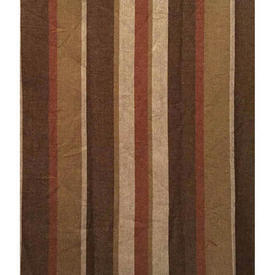 "Pair Drapes 5'3"" x 3'6"" Chestnut Stripe Cotton Weave"