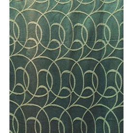 "Pair Drapes 5'2"" x 4' Sea Swirl Silky Damask"