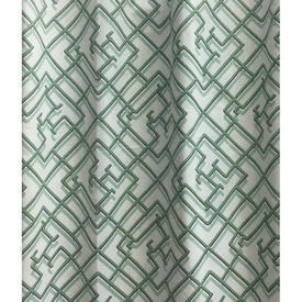 Pair Drapes 5' x 4' Mint Interior Selection Cheng-Tu Shadow Lattice Print