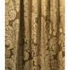 Pair Drapes 5' x 8' Gold Floral Damask