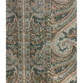 Pair Drapes 5' x 6' Airforce Large Paisley Print Sateen
