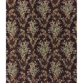 "Pair Drapes 5'6"" x 6' Brown Floral Diamond Tapestry"