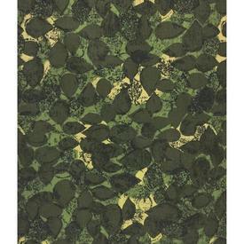 """Pair Drapes 5'6"""" x 6' Khaki Robert Tierney Reen Leaf Print Linen"""