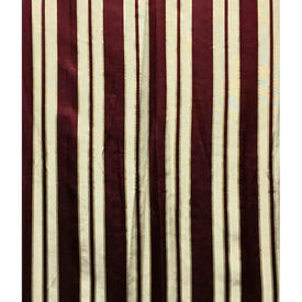 """Pair Drapes 5'6"""" x 3'7"""" Burgundy Stripe Satin"""