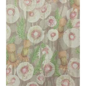 """Pair Drapes 5'9"""" x 6' Beige Designers Guild Floral Chintz"""