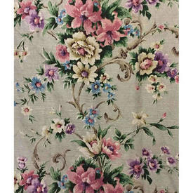 "Pair Drapes 5'9"" x 4' Silver / Lilac Rathbrook Rathbrook Floral Linen"