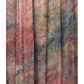 "Pair Drapes 5'9"" x 7'3"" Pink Marble Print Sateen"