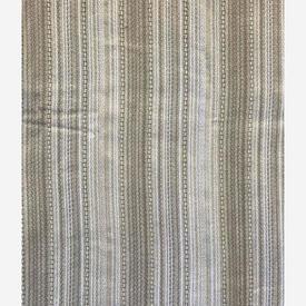 "Pair Drapes 5'8"" x 8' Ivory Stripe Heavy Vision"
