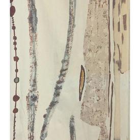 """Pair Drapes 5'9"""" x 10' Cream Abstract Tree Bark Print"""