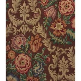 """Pair Drapes 5'9"""" x 6' Chestnut Floral Linen"""