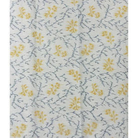 "Pair Drapes 5'9"" x 4'4"" Sky / Lemon Abstract Floral Print"