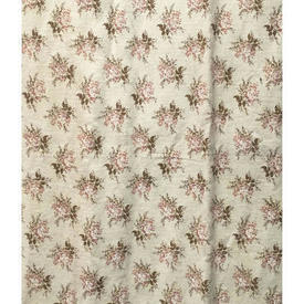 Pair Drapes 6' x 4' Cream / Brown Laura Ashley Small Floral Bouquets
