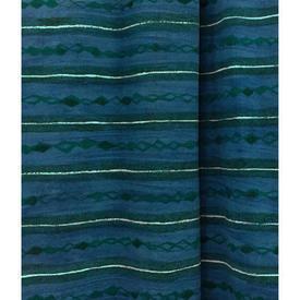 Pair Drapes 6' x 8' Cerulean Heal's Lamina Horiz. Stripe Print