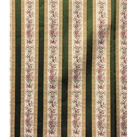 Pair Drapes 6' x 4' Bottle Regency Stripe